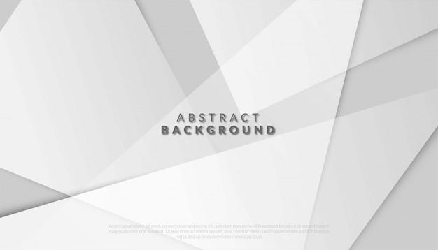 Fundo branco e cinza geométrico abstrato. ilustração