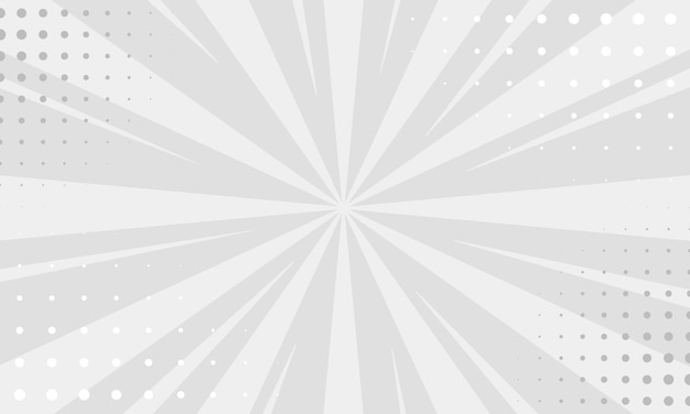 Fundo branco e cinza vintage pop art. ilustração vetorial de banner de papel de parede
