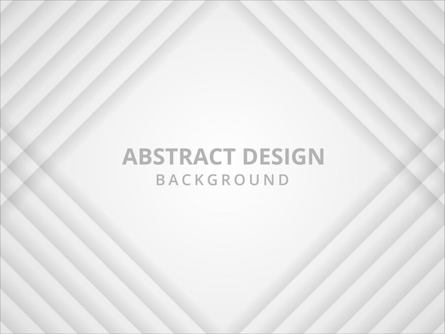 Fundo branco e cinzento geométrico abstrato