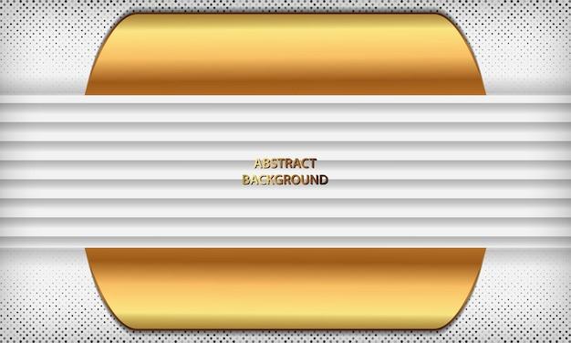 Fundo branco elegante com linha dourada e elementos de brilho modelo de luxo moderno