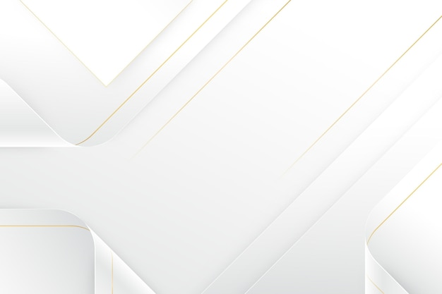Fundo branco elegante com linhas douradas