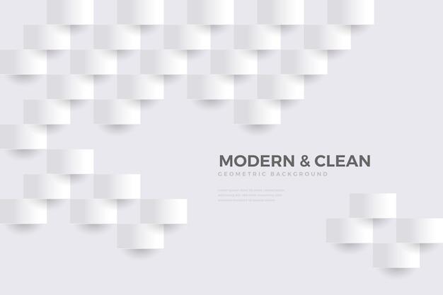 Fundo branco em design de papel 3d