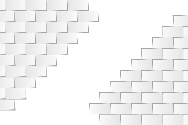 Fundo branco em estilo de papel 3d