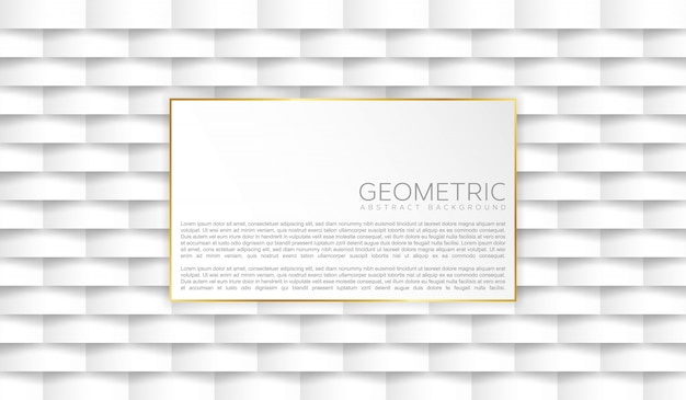 Fundo branco geométrico