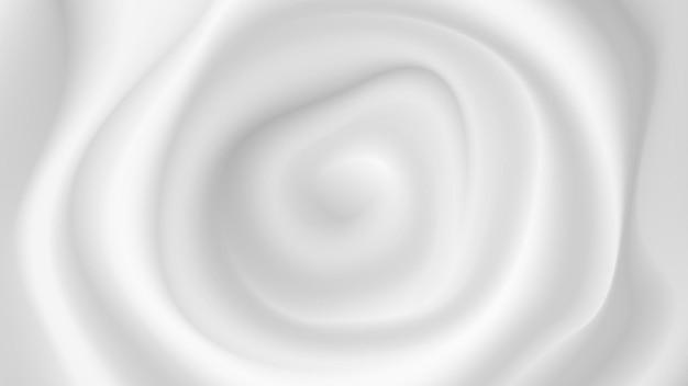 Fundo branco leitoso fluido abstrato