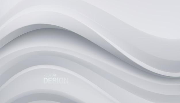 Fundo branco minimalista abstrato com formas curvas suaves