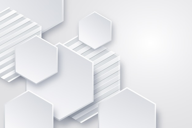 Fundo branco monocromático realista Vetor Premium