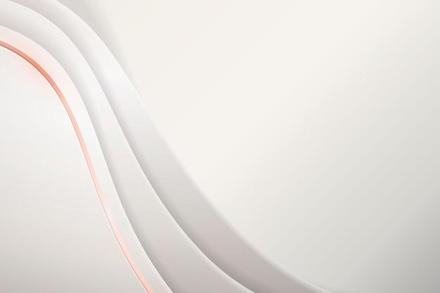 Fundo branco ondulado abstrato