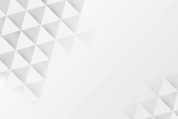 Fundo branco poli em estilo de papel 3d