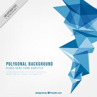 Fundo branco poligonal com formas azuis