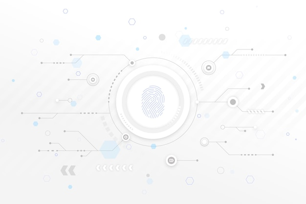 Fundo branco tecnologia com setas