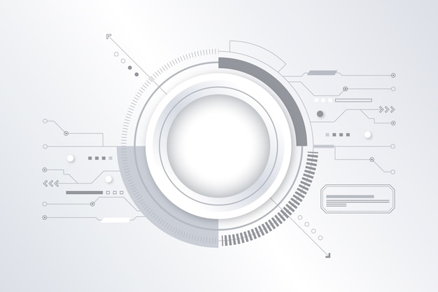Fundo branco tecnologia futurista