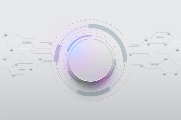 Fundo branco tecnologia