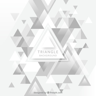 Fundo branco triângulo