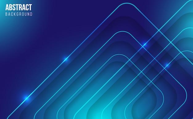 Fundo brilhante abstrato azul moderno