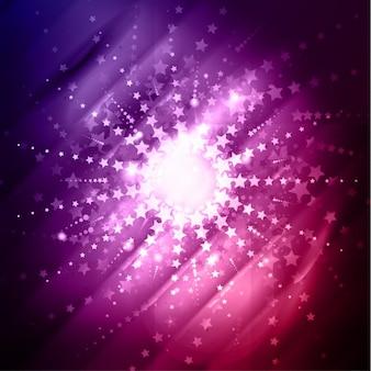 Fundo brilhante abstrato com estrelas