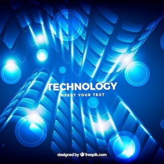 Fundo brilhante com formas abstratas de tecnologia