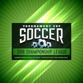 Fundo brilhante da liga do torneio de futebol de futebol