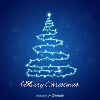 Fundo brilhante de árvore de natal