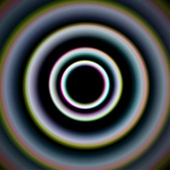 Fundo brilhante de círculos concêntricos