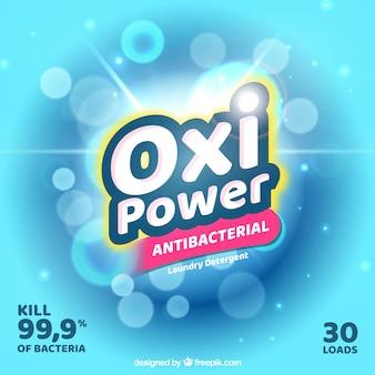 Fundo brilhante de detergente antibacteriano