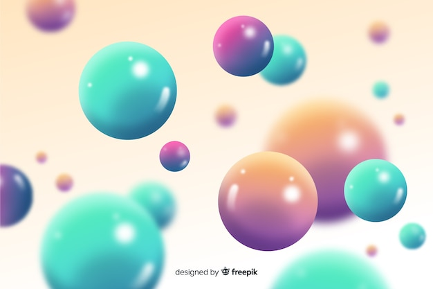 Fundo brilhante de esferas fluidas