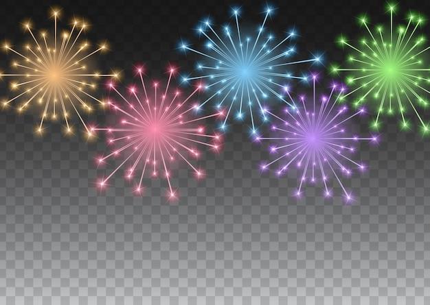 Fundo brilhante de fogos de artifício