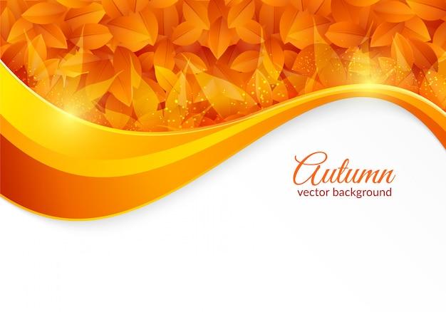 Fundo brilhante de outono