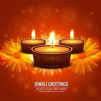 Fundo brilhante diwali feliz