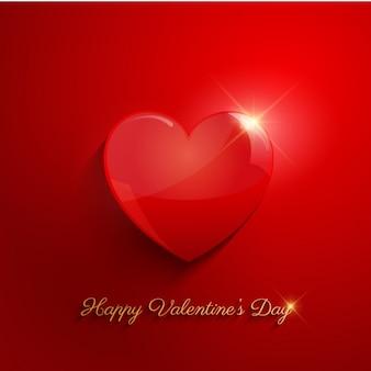 Fundo brilhante do coração vermelho