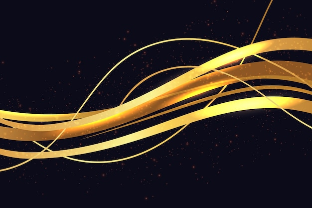 Fundo brilhante onda de ouro