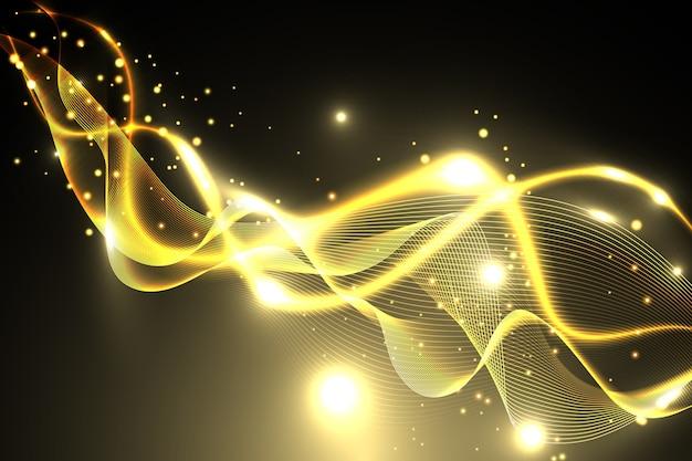Fundo brilhante onda dourada