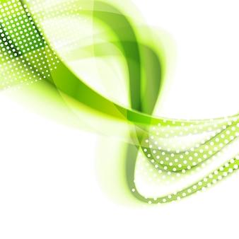 Fundo brilhante ondulado liso verde abstrato. desenho vetorial