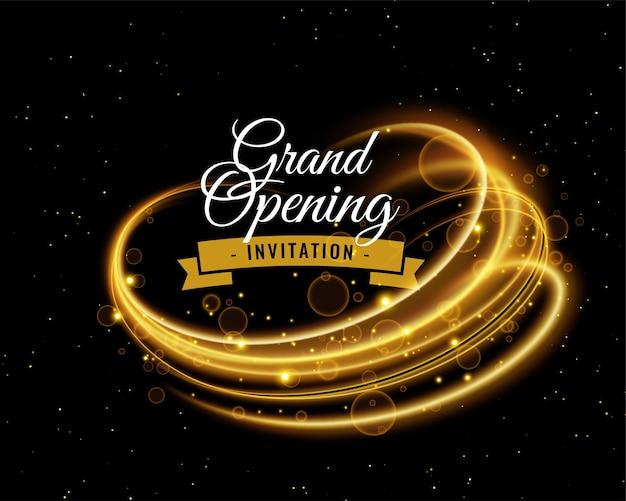 Fundo brilhante para convite de inauguração