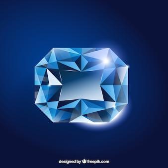 Fundo brilhante pedra preciosa azul