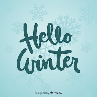 Fundo caligráfico de inverno