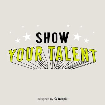 Fundo caligráfico de pesquisa de talento
