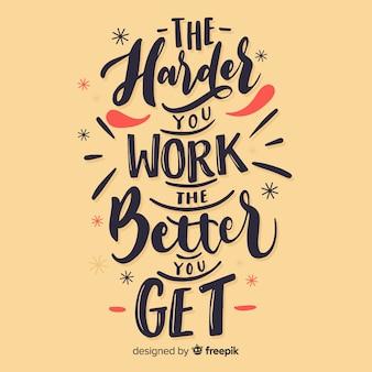 Fundo caligráfico de uma citação motivacional