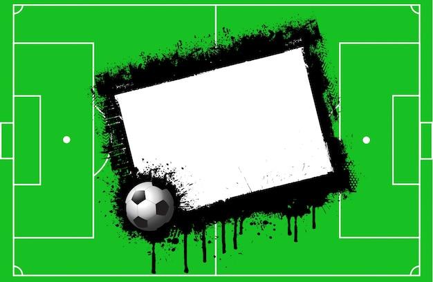 Fundo campo de futebol de grunge com espaço para o texto