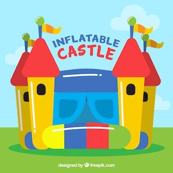 Fundo castelo inflável colorido
