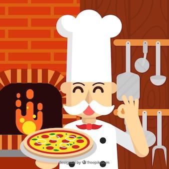 Fundo chef pizza