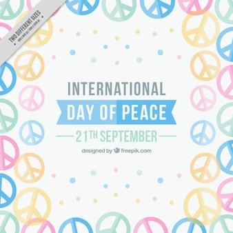Fundo cheio de símbolos para o dia internacional da paz