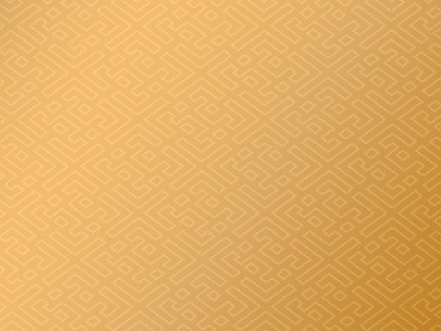 Fundo chinês tradicional, desenho de padrão ouro auspicioso
