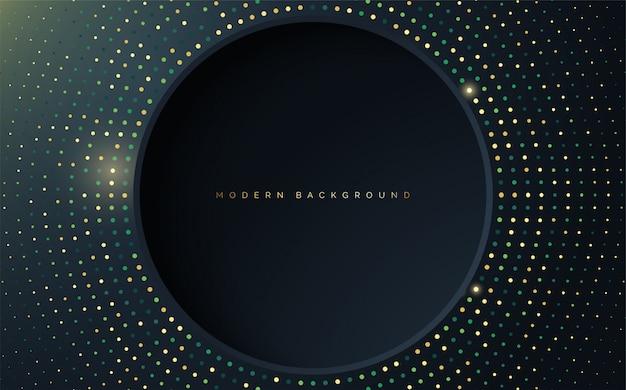 Fundo chique com ilustração de buraco de círculo com efeito de meio-tom.
