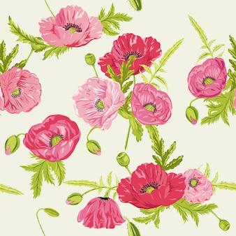 Fundo chique desgastado floral sem emenda