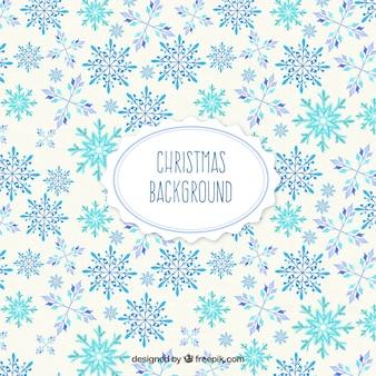 Fundo christmast com flocos de neve