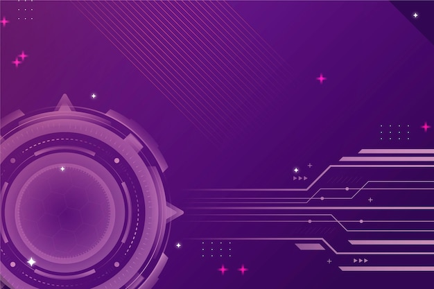 Fundo cibernético de tecnologia gradiente