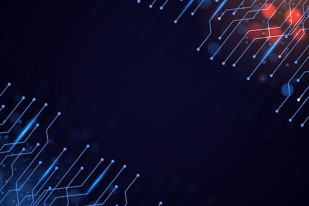 Fundo cibernético futurista gradiente