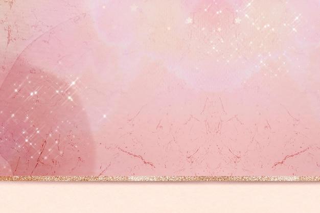 Fundo cintilante de mármore rosa estético dourado