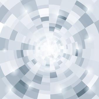 Fundo cinza circular abstrato, ilustração vetorial